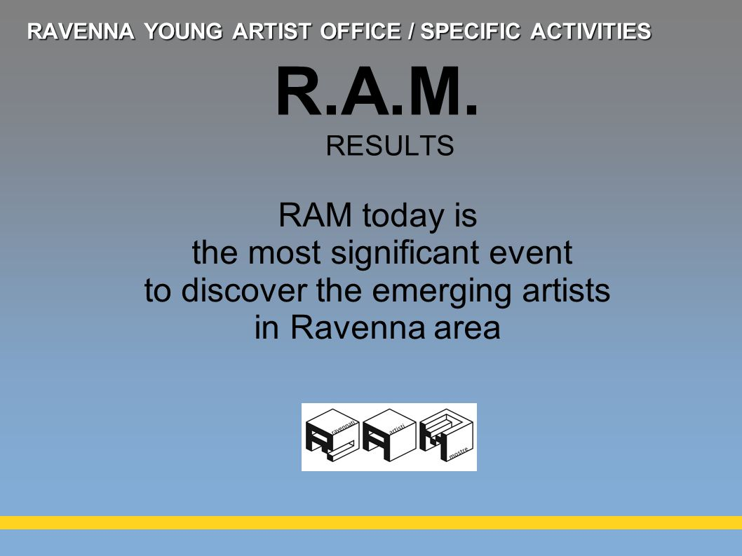 RAM today is the most significant event to discover the emerging artists in Ravenna area R.A.M.