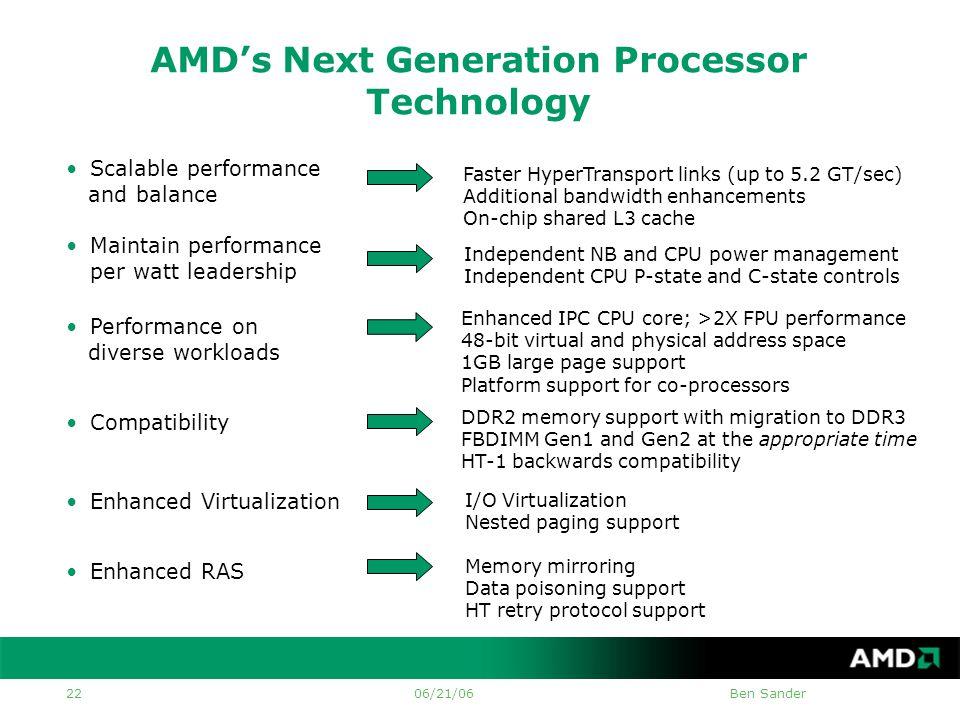 AMD Microprocessor Technologies Ben Sander AMD Principal Member of