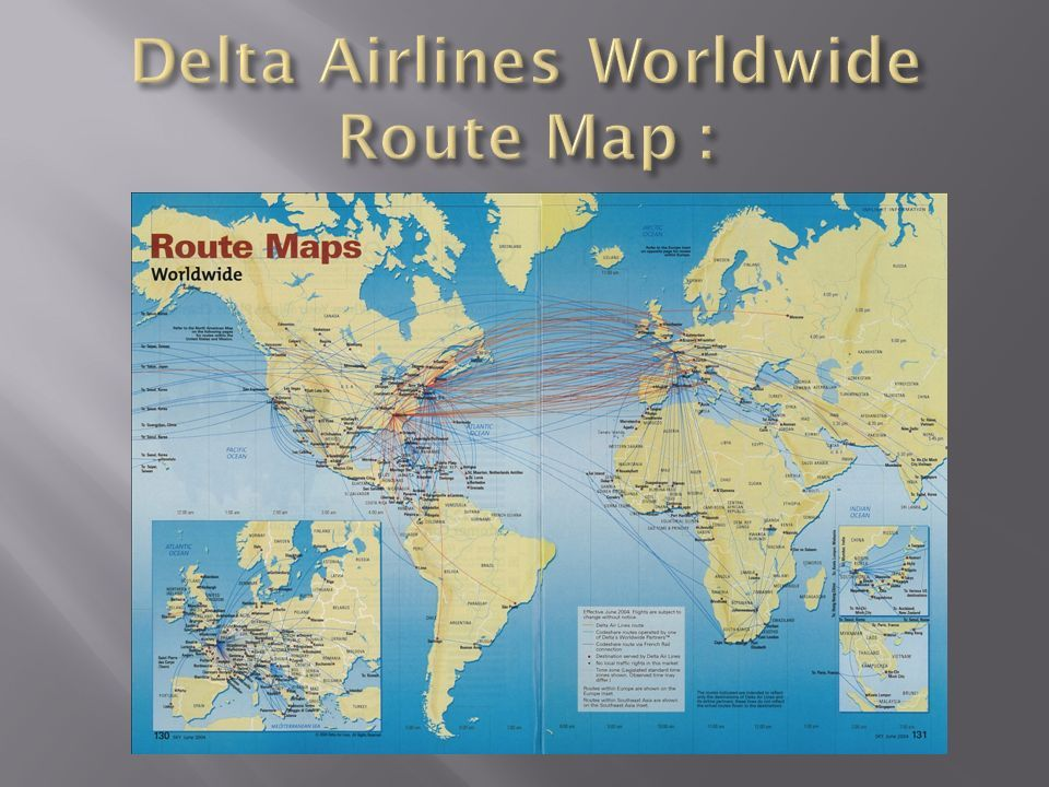 One of the five remaining legacy carriers, Delta is the sixth-oldest Delta International Route Map on