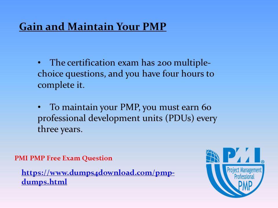 Project Management Professional PMP Dumps Prepare. - ppt download