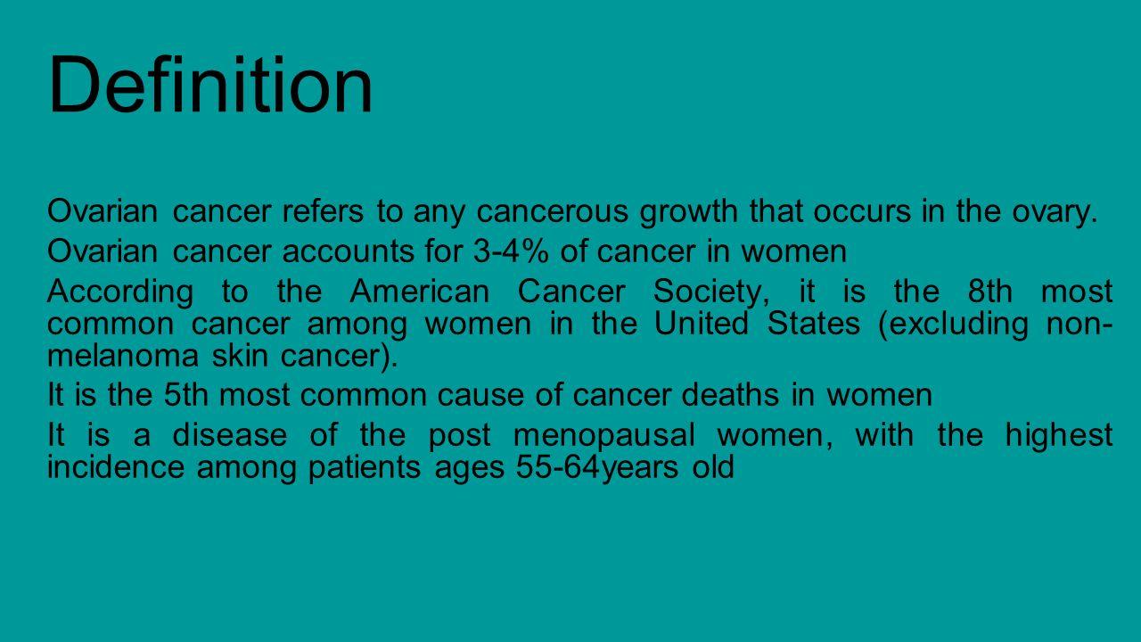ovarian cancer qpt - ppt download