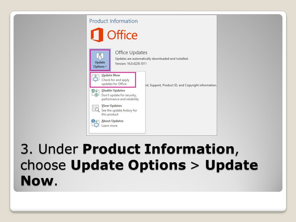 1  Open any Office 2016 app, such as Word, and create a new