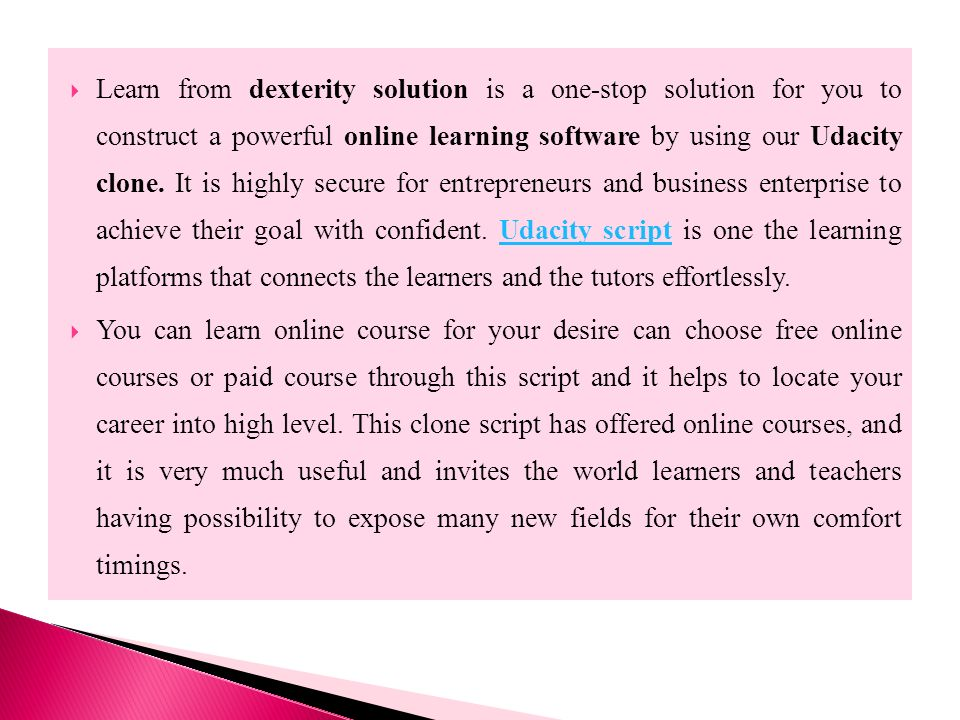 Udacity Clone, Online Learning Software, Udacity Script - ppt download
