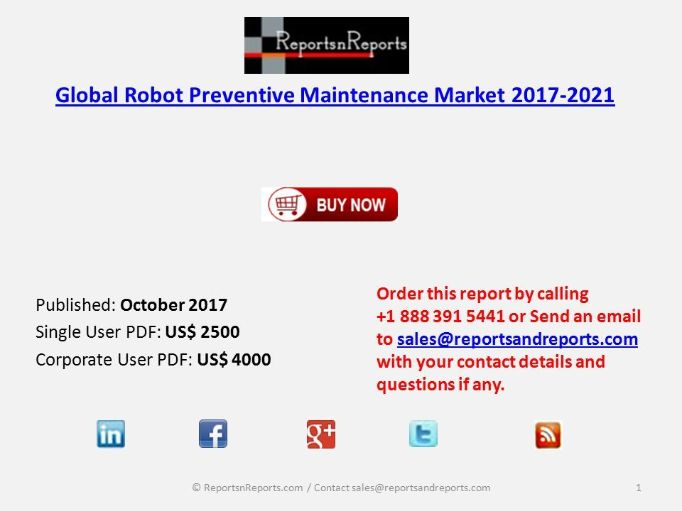 Global Robot Preventive Maintenance Market Size and Growth