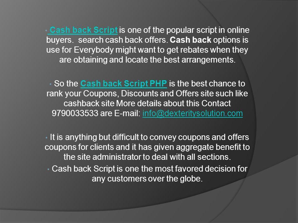 cash-back-website html Cash back Script, Cash back Script
