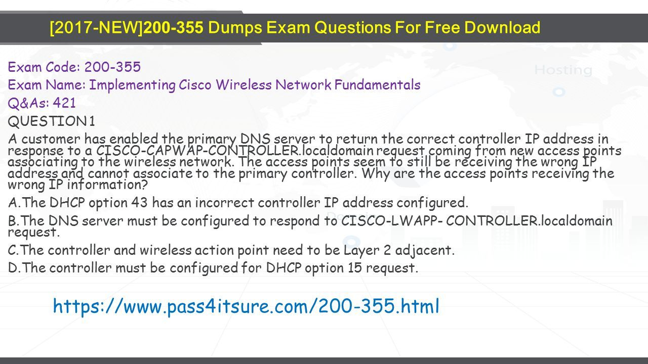 Pass4itsure Cisco Dumps - ppt download