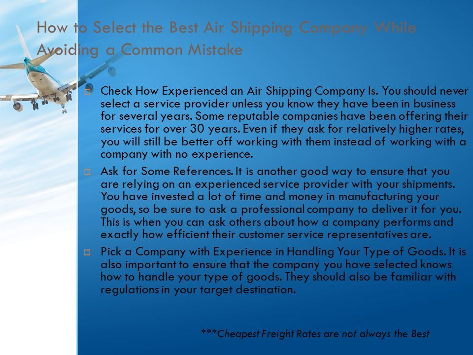 Air Freight Shipping Tips - ppt download