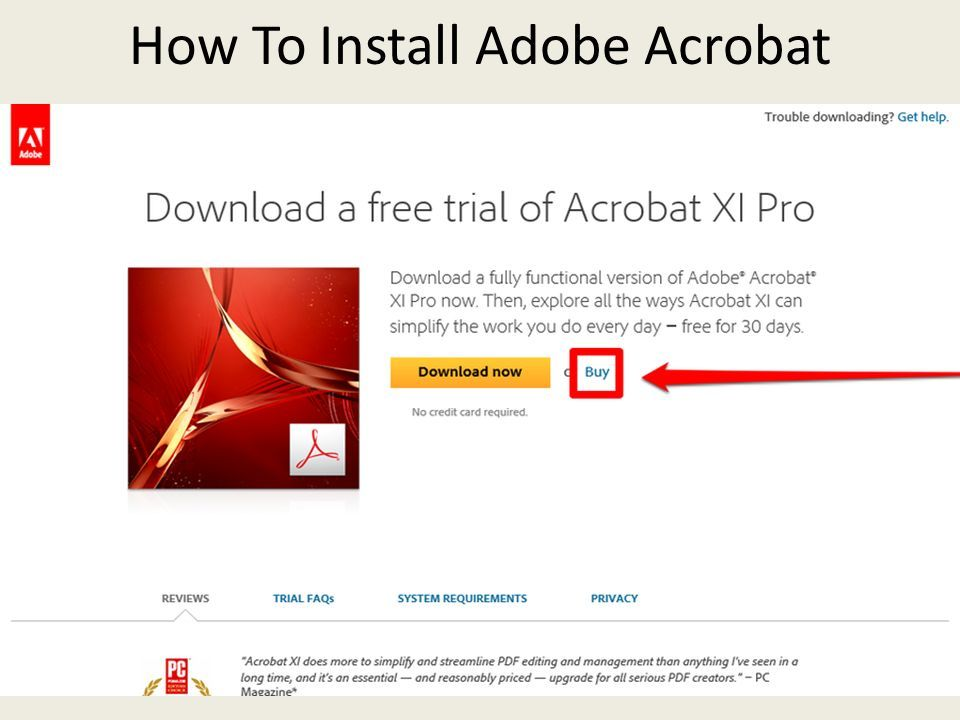 download and install the adobe acrobat dc free trial
