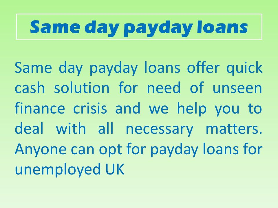 a directory of pay day advance funds