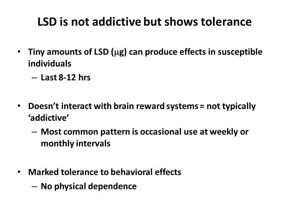 How Long Does Acid Tolerance Last