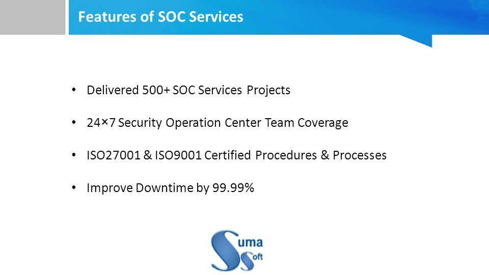 SOC Services - ppt download