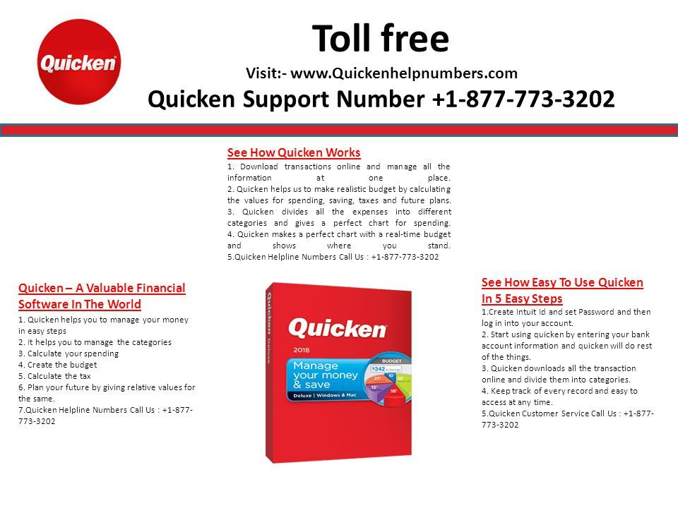 Toll free Visit:- Quicken Support Number Services For