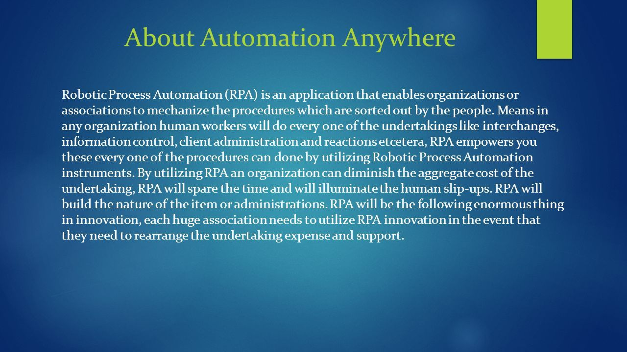 Automation Anywhere Training at GoLogica - ppt download