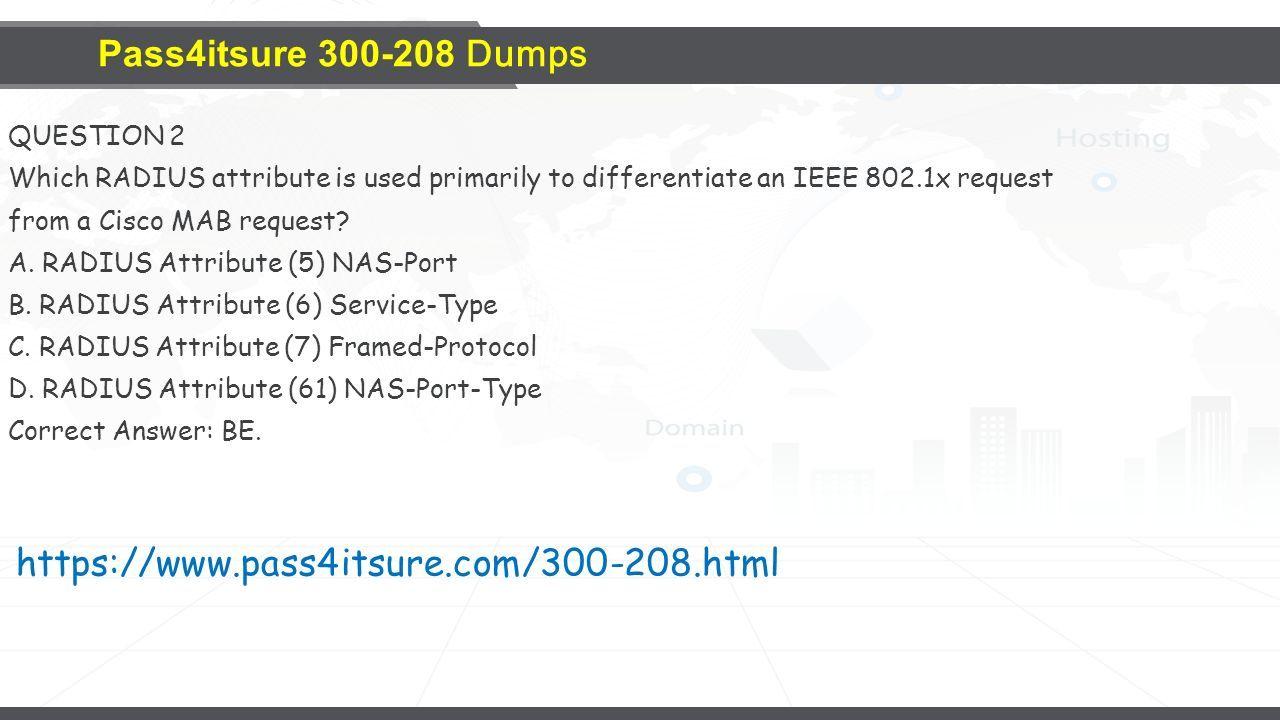 Pass4itsure Cisco Dumps - ppt download