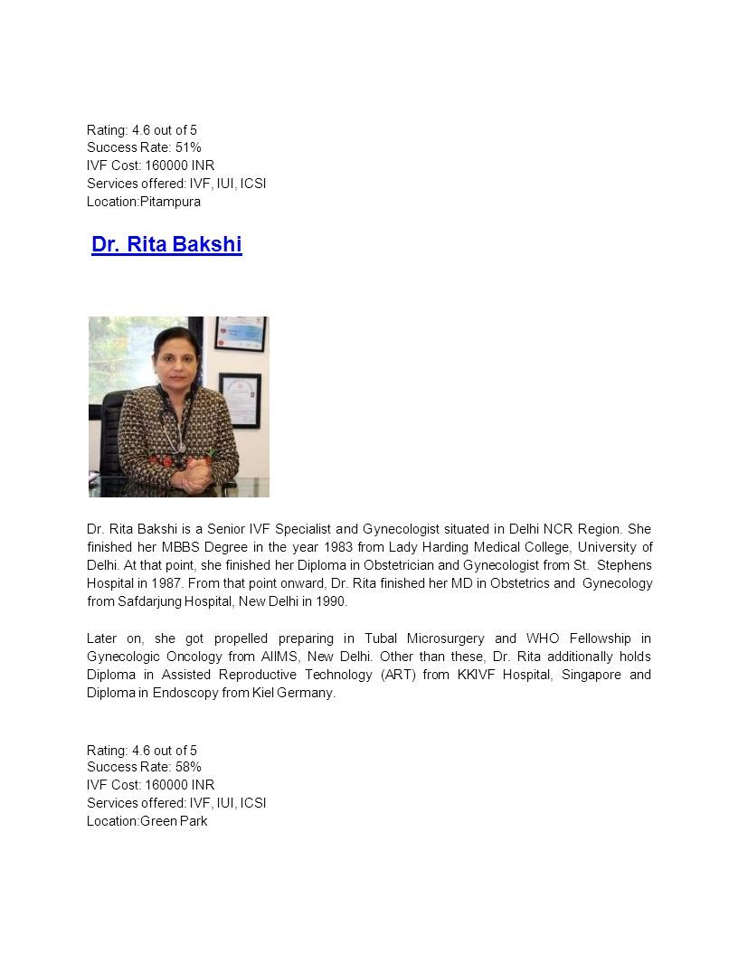 Best IVF Doctors in Delhi With High Success Rates By Ela Woman The