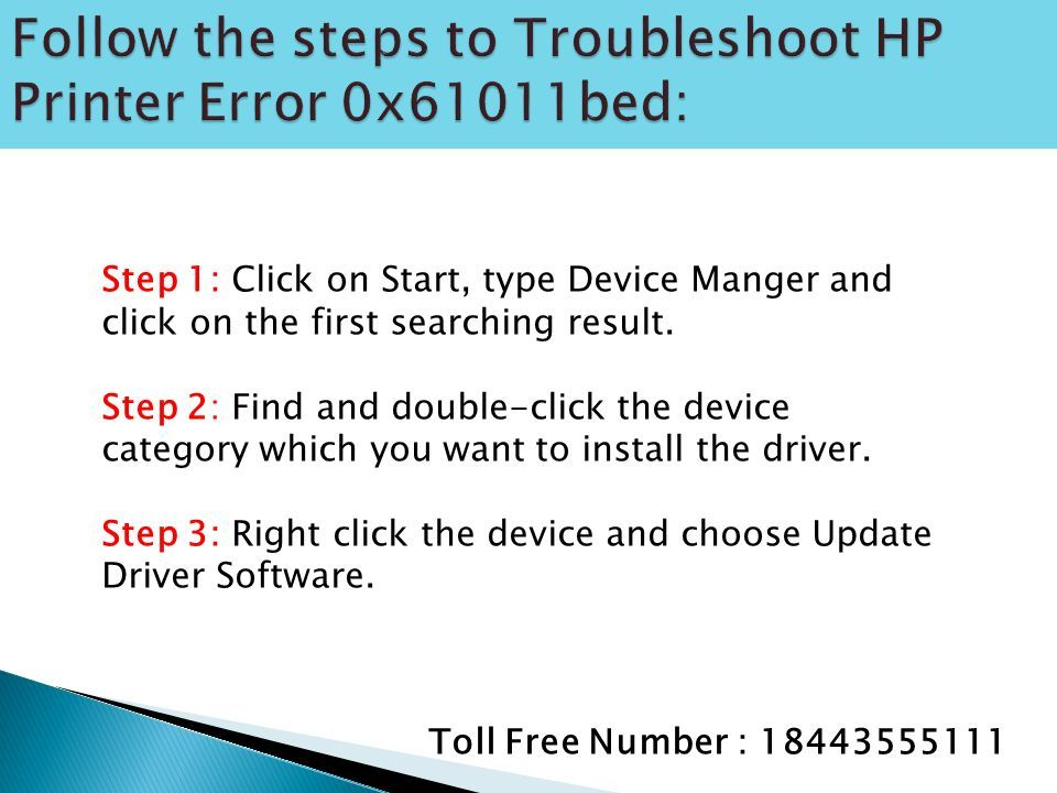 1(844) How to fix HP Printer Error 0x61011bed ? - ppt download