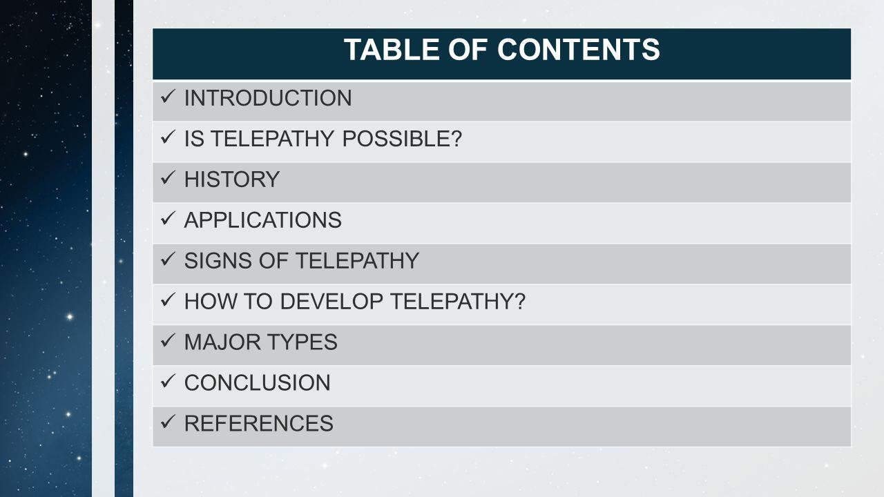 TELEPATHY - COMMUNICATION SKILLS - ppt download