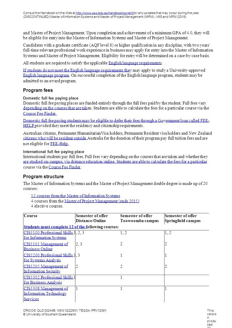 Consult The Handbook On The Web At For Any Updates That May Occur