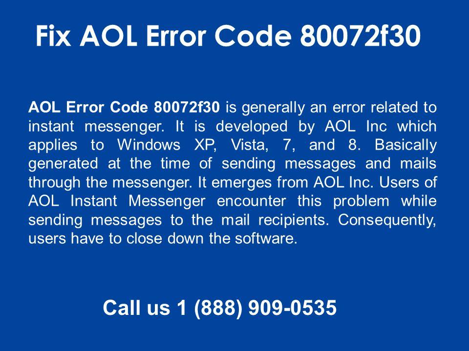 Error code 80072f30
