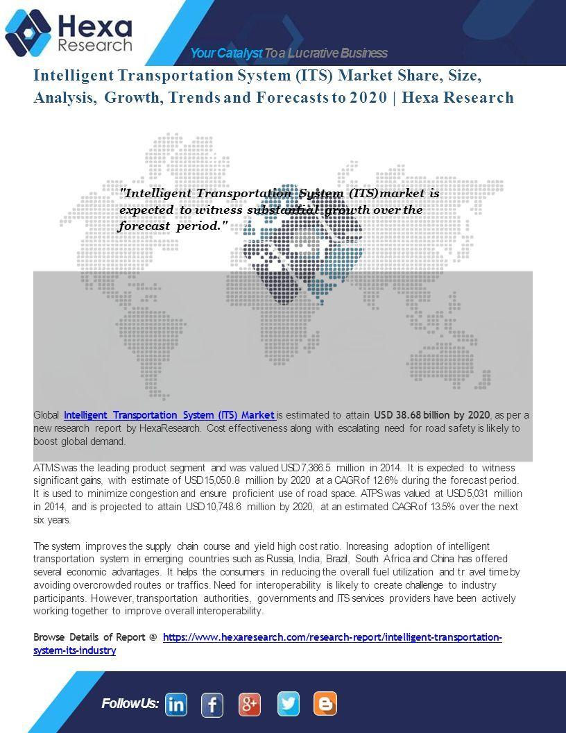 Intelligent Transportation System Market Size - ppt download