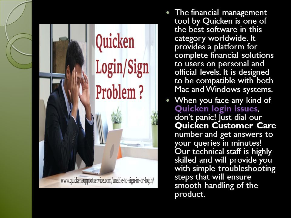Resolve your Quicken Login Issues with 24X7 Customer support