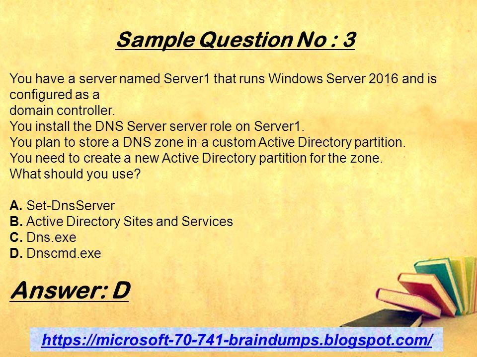 Networking with Windows Server 2016 Microsoft braindumps