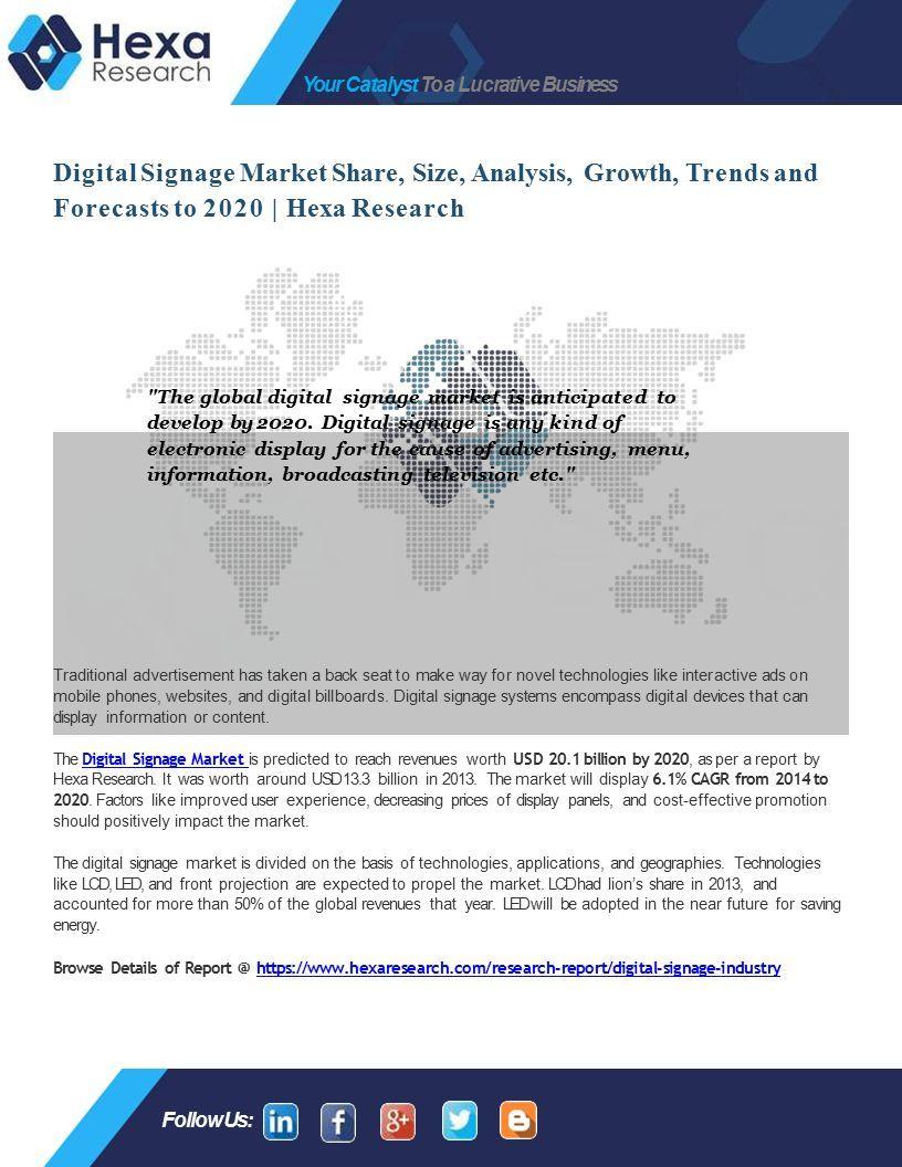 Digital Signage Market - ppt download