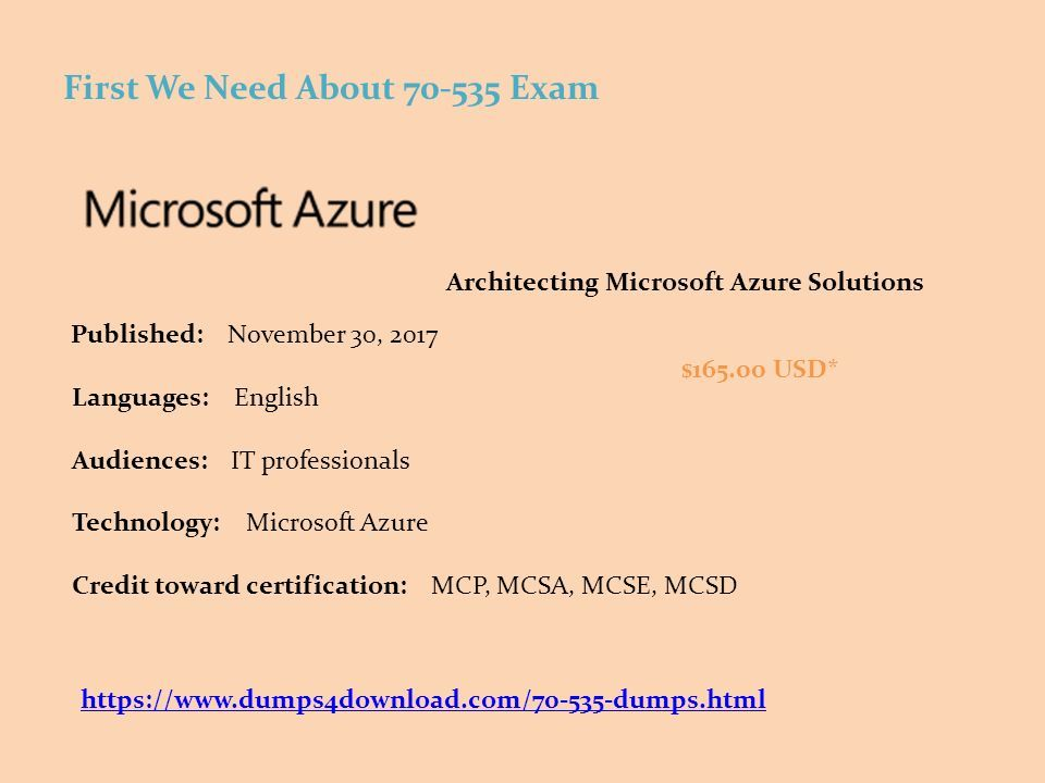 Dumps PDF Architecting Microsoft Azure Solutions Are You
