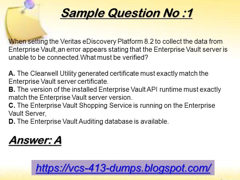Valid And Updated Veritas Vcs 413 Exam Certifications Dumps