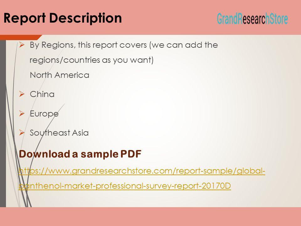global panthenol market professional survey report ppt download
