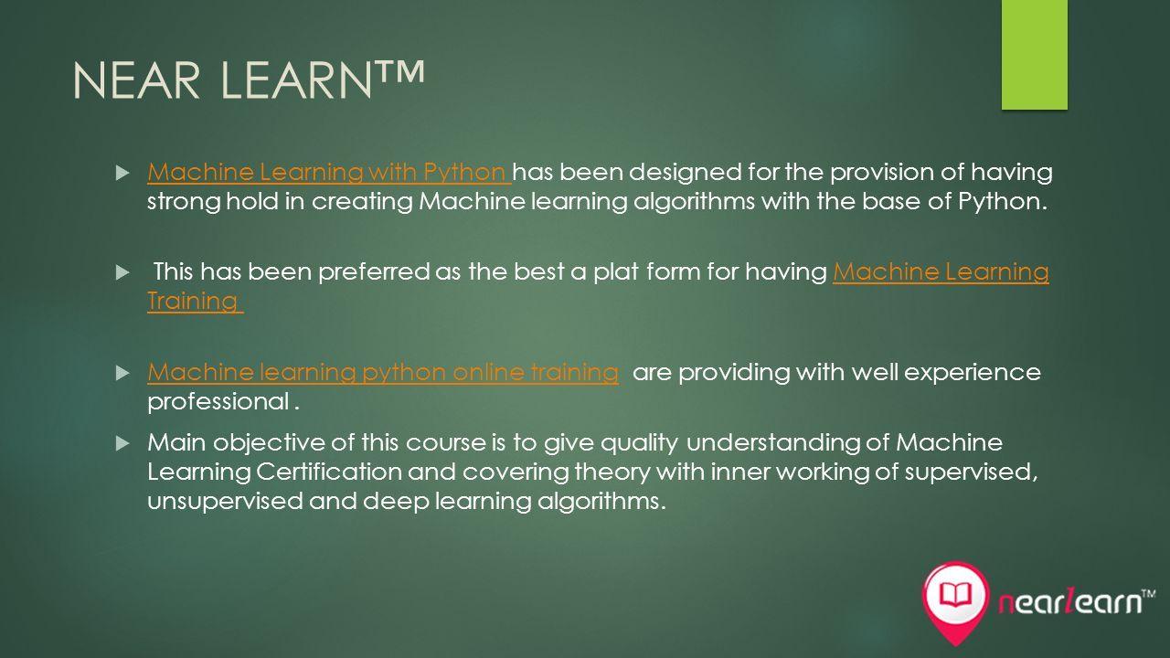 NEAR LEARN™  Near Learn™ is an Ed-tech brand registered under the