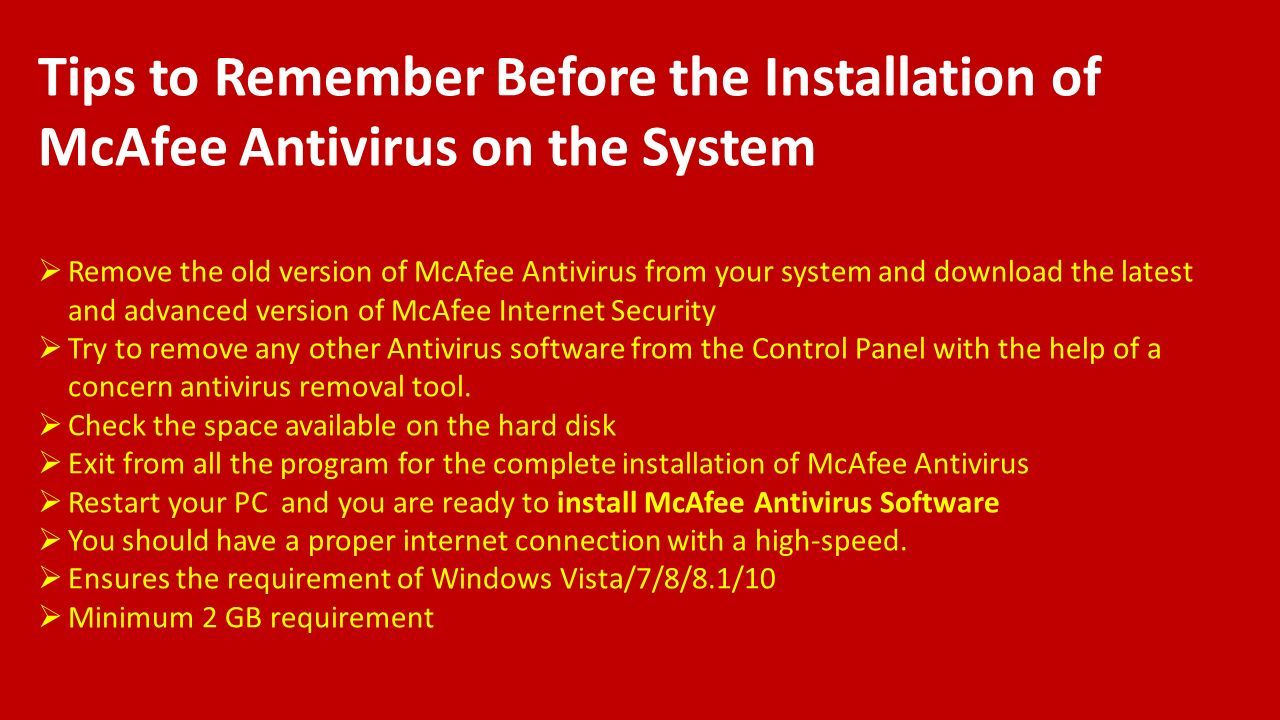 Steps To Setup And Install Mcafee Antivirus Ppt Download Internet Security 3 Year Tips