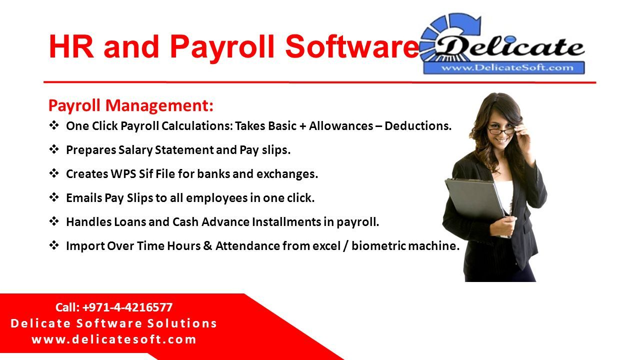 Delicate Software Solutions Dubai, UAE HR and Payroll