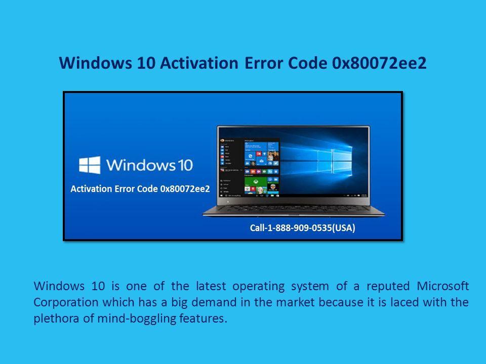 error code 0x80072ee7 windows 8.1 activation