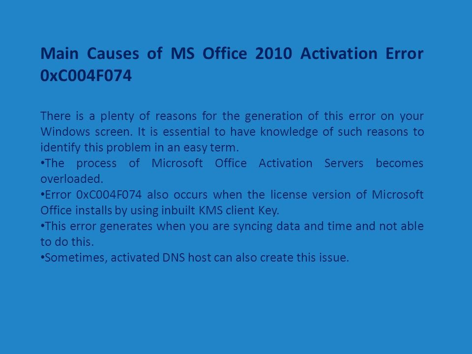 microsoft office professional plus 2010 activation failed