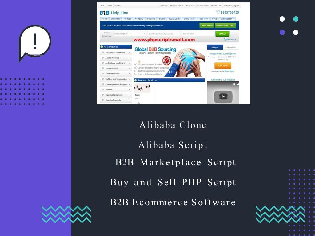 Alibaba Clone Script B2B Marketplace Script Buy and Sell PHP
