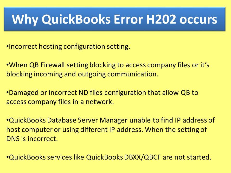 Call To Fix QuickBooks Error Code H202, H303, H ppt download
