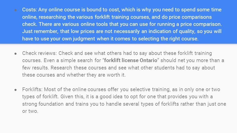 Find The Best Forklift Training Course If You Are Looking For Work