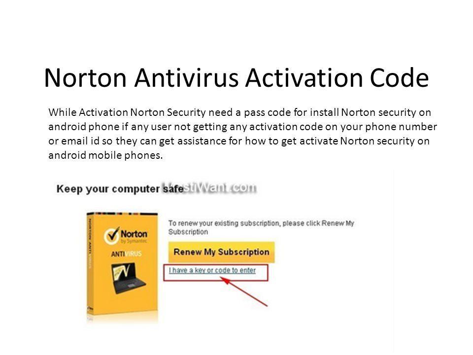 norton security activate code
