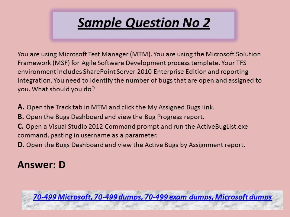 Microsoft Exam Dumps Questions Verified Answer Ppt Download