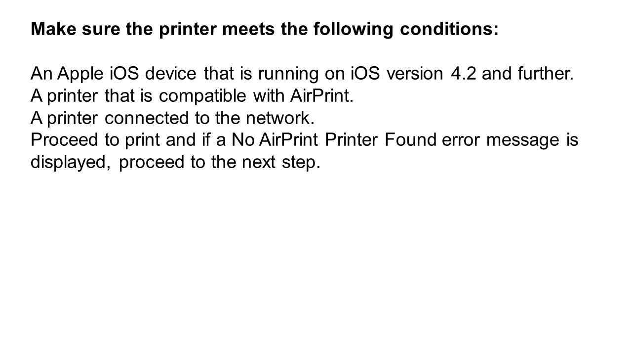 Printing using AirPrint on HP Officejet 4650 printer  - ppt