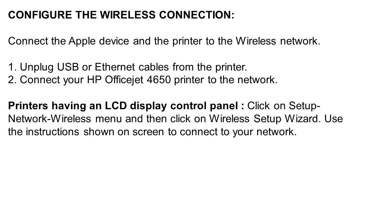 Hp Officejet 4650 Ethernet Port