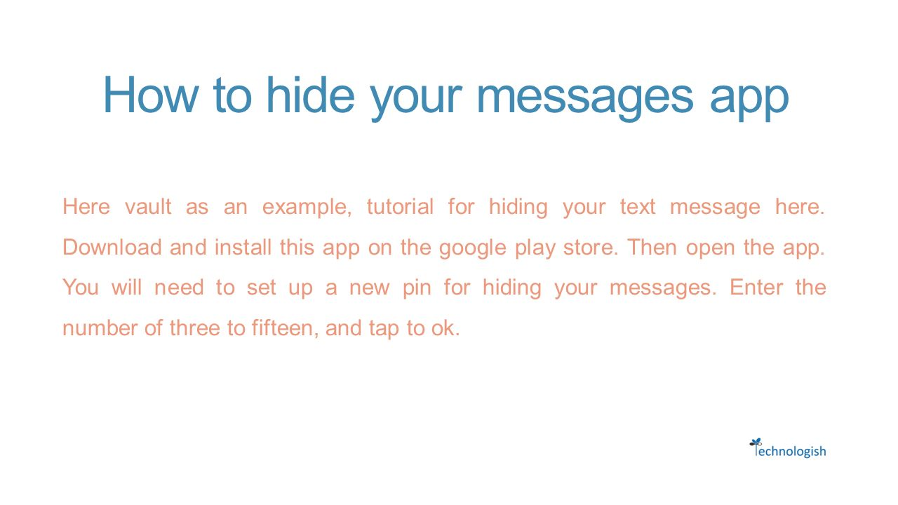 Hide Text Messages on Android Phone - ppt download