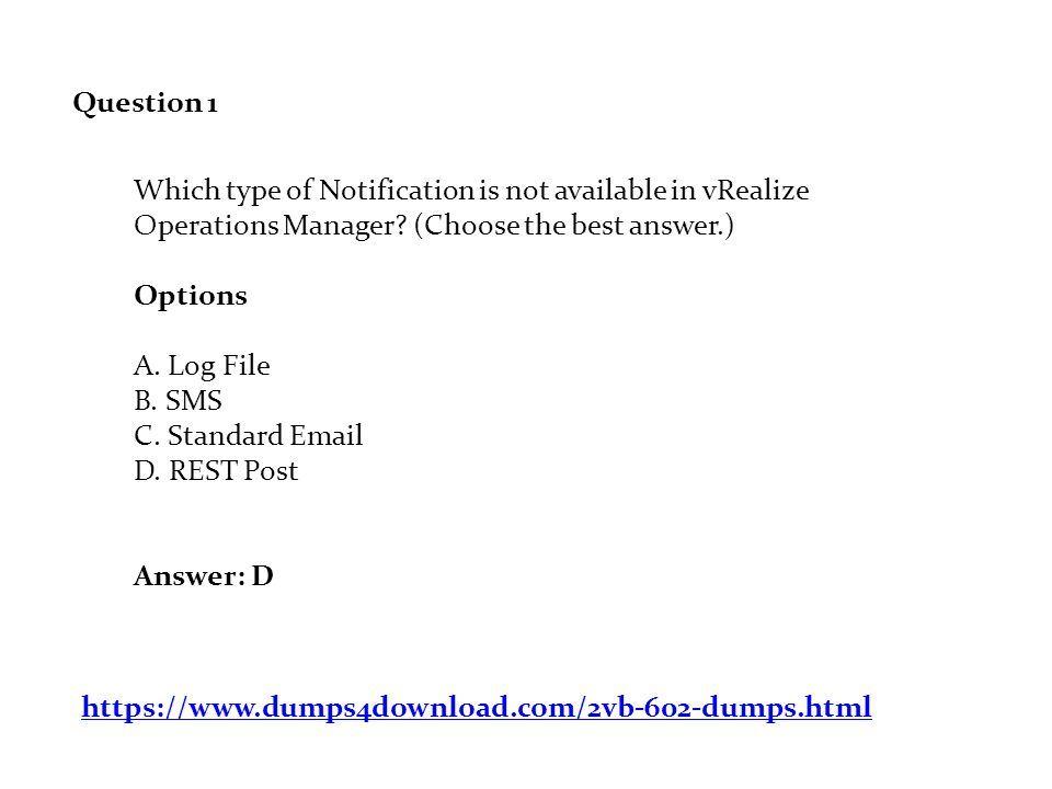 2VB-602 Dumps PDF VMware Specialist: vRealize Operations