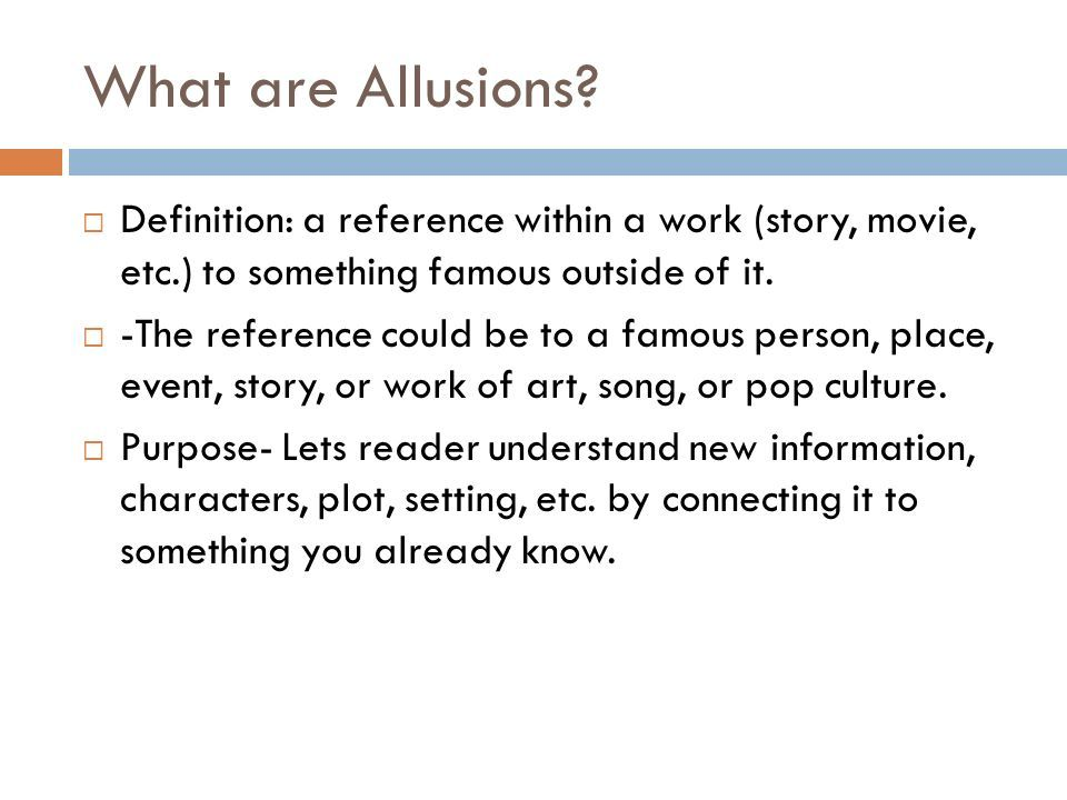 Allusions Definition Explanation Examples What Are Allusions