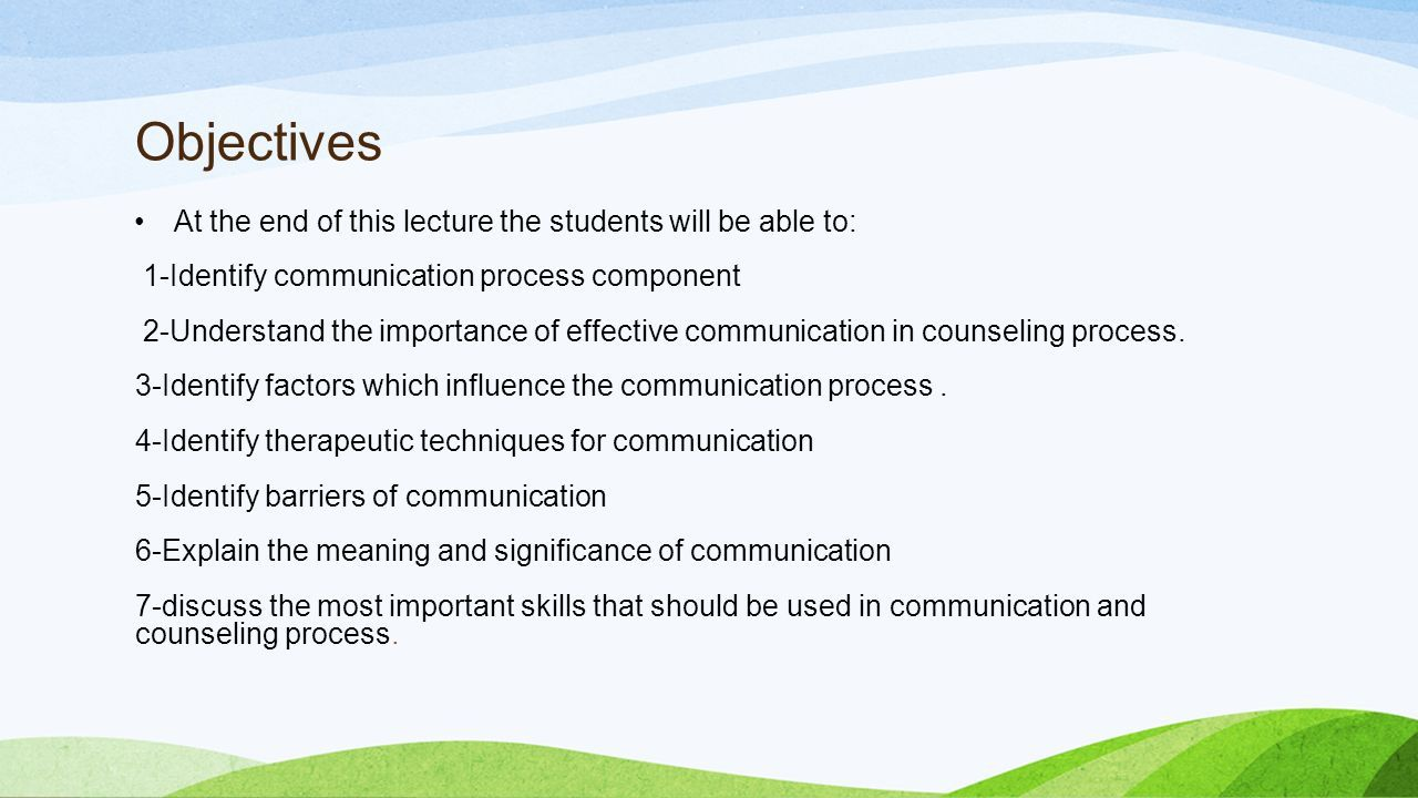communication skills. outline introduction to communication