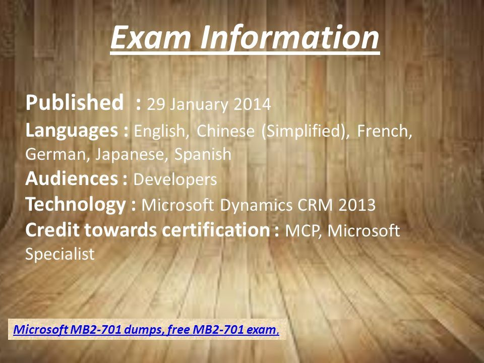 How To Get Study Material For The Microsoft Mb2 701 Certification