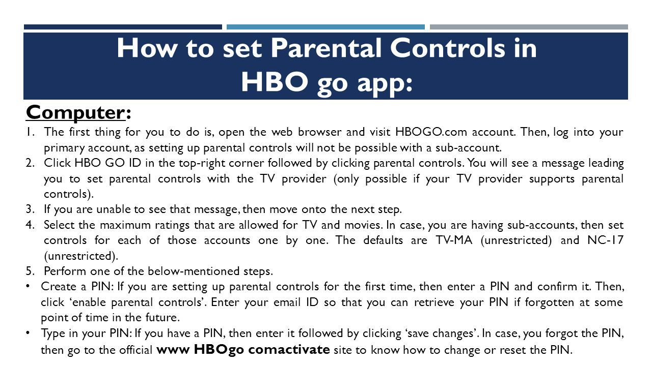 Parental Control With HBOgo (Check Here) - ppt download