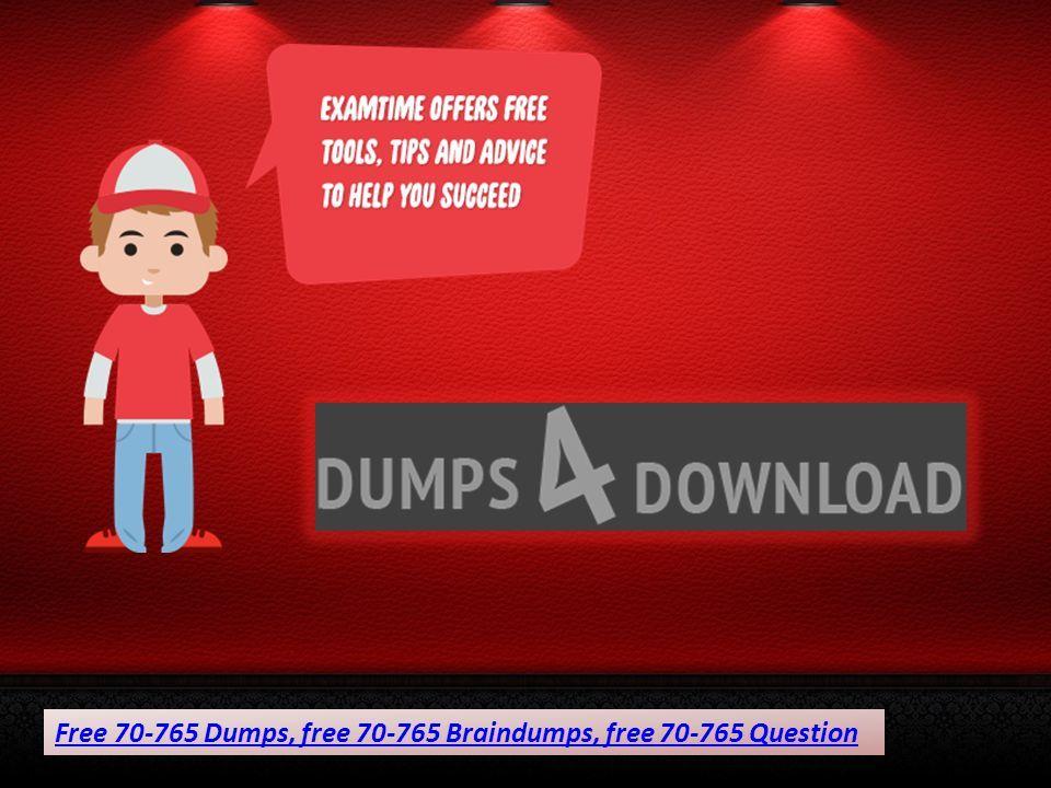 Free Microsoft Exam Braindumps Dumps4download Ppt Download