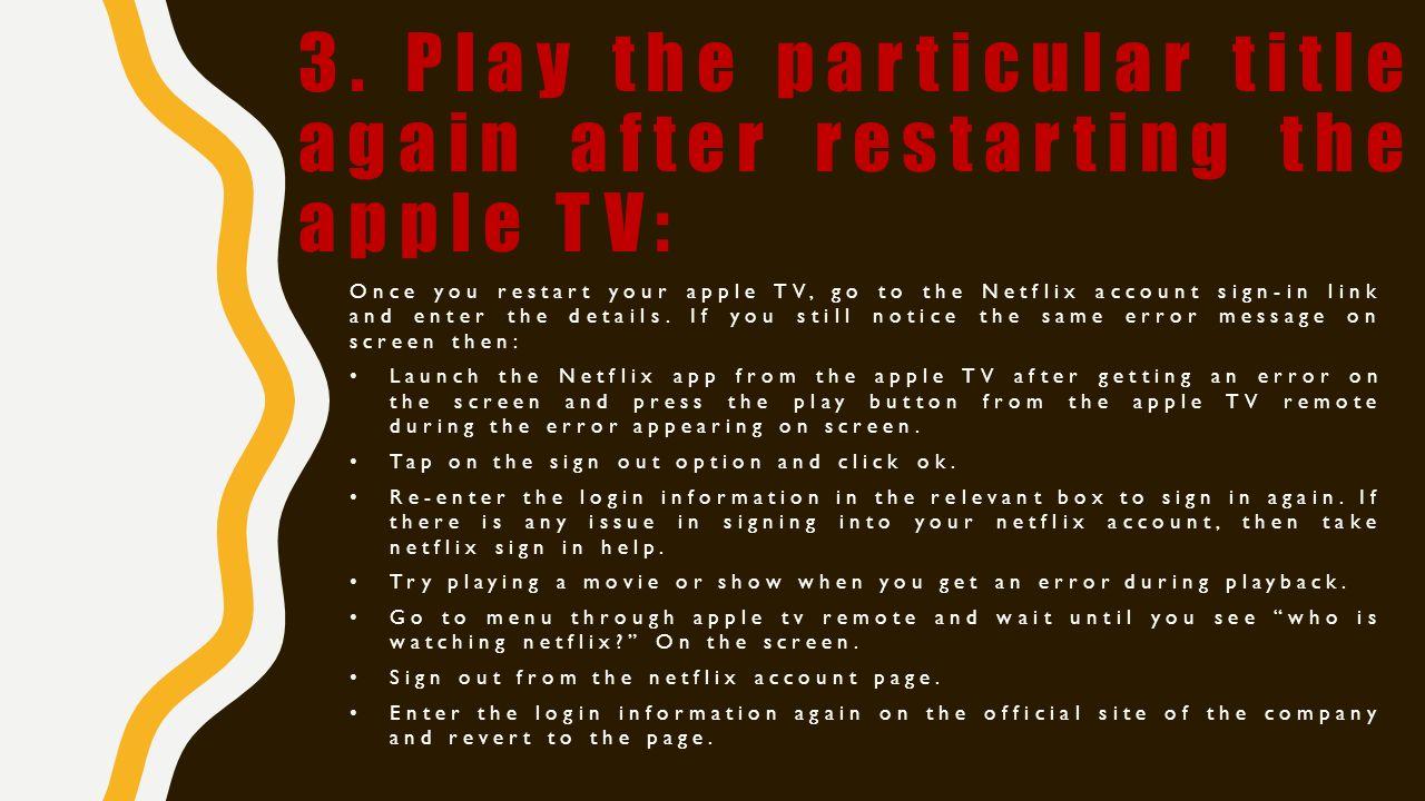 Apple TV Error  Check Here  - ppt download